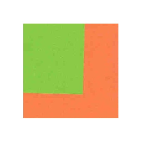 origami paper double sided lime green and orange 150 mm