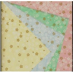 150 mm_   4 sh - Unryu Paper With Cherry Blossom Silkscreen Design