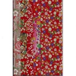 240 mm_   5 sh - Red Pattern Washi Paper